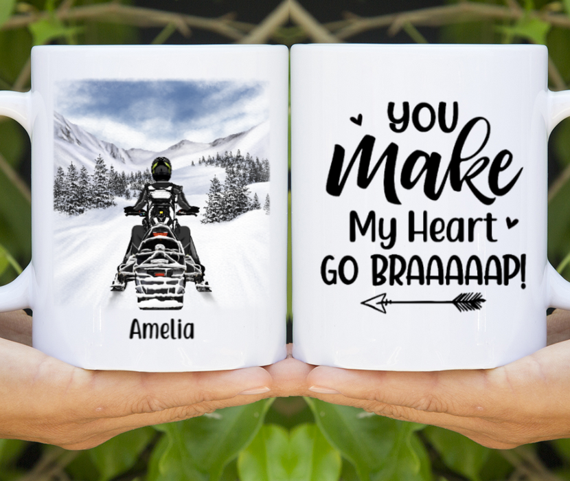 Personalized Mug, Snowmobile Lovers Gift For Snowmobilers