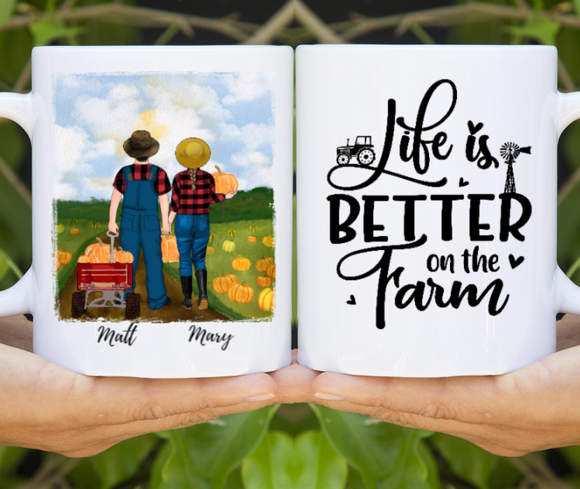 Custom Pumpkin Farmer Couple Personalized Mug Gifts For Pumpkin Farming Lovers