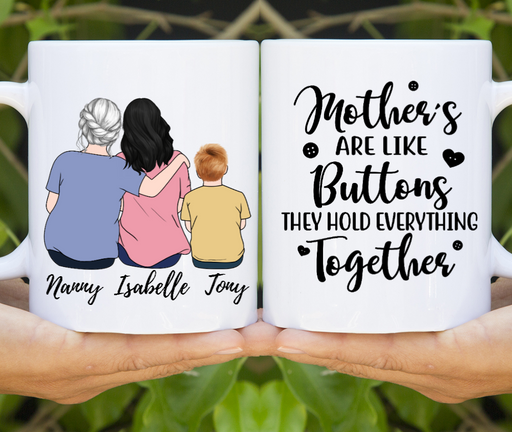 Custom Mother & Daughter Mug Personalized Mother's Day Gift