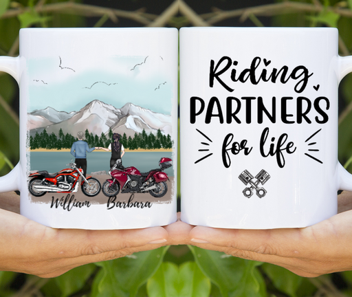 Custom Riding Partners Personalized Gift For Motorcycle Lover