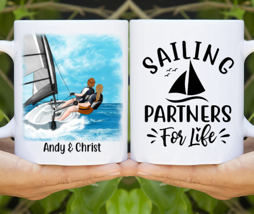 Personalized Mug, Sailing Couple And Friends Custom Gift For Sailing Lovers