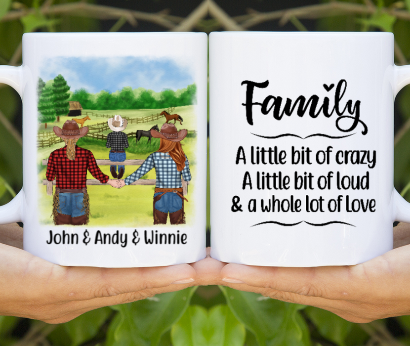 Personalized Mug, Cowboy Family Gifts For Western Family