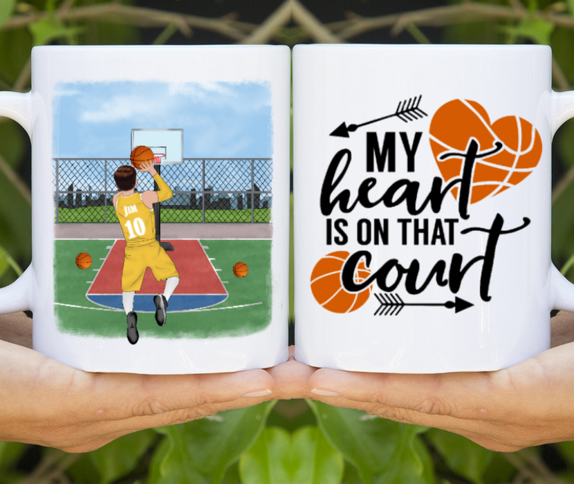 Custom Basketball Kid Basketball Teenager Personalized Mug Gifts For Basketball Child