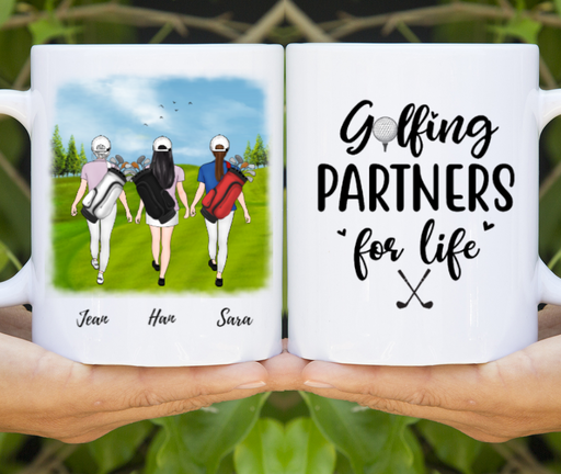 Personalized Mug, Three Golf Girls Custom Gifts for Golf Partners