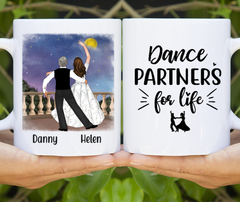Personalized Mug, Couple Dancing In The Moonlight Gift For Dance Partners