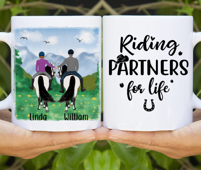 Personalized Mug, Horse Riding Couple Gift For Horse Lovers