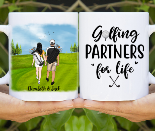 Personalized Mug, New Font Golf Couple Custom Gifts for Golf Lovers