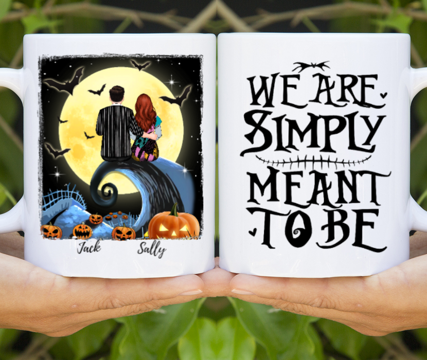 Personalized Mug, Custom Spiral Hill Halloween Gift For Couple
