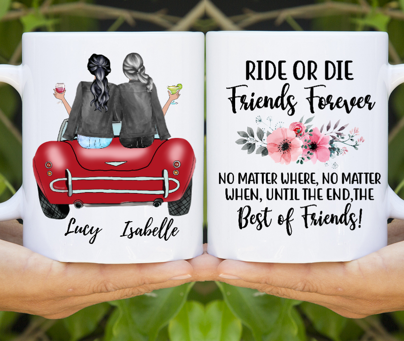 Ride Or Die Best Friends Customize mug