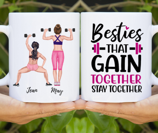 Personalized Mug - Gym Besties Workout Sister