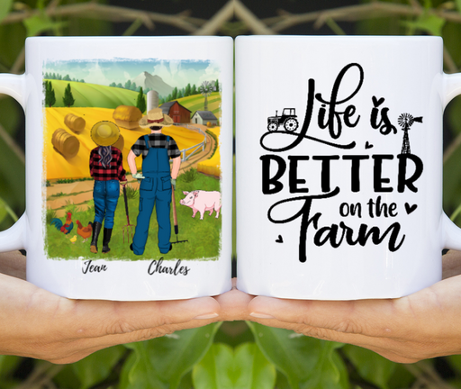 Custom Life Is Better On The Farm Personalized Mug Gifts For Farmer Lovers