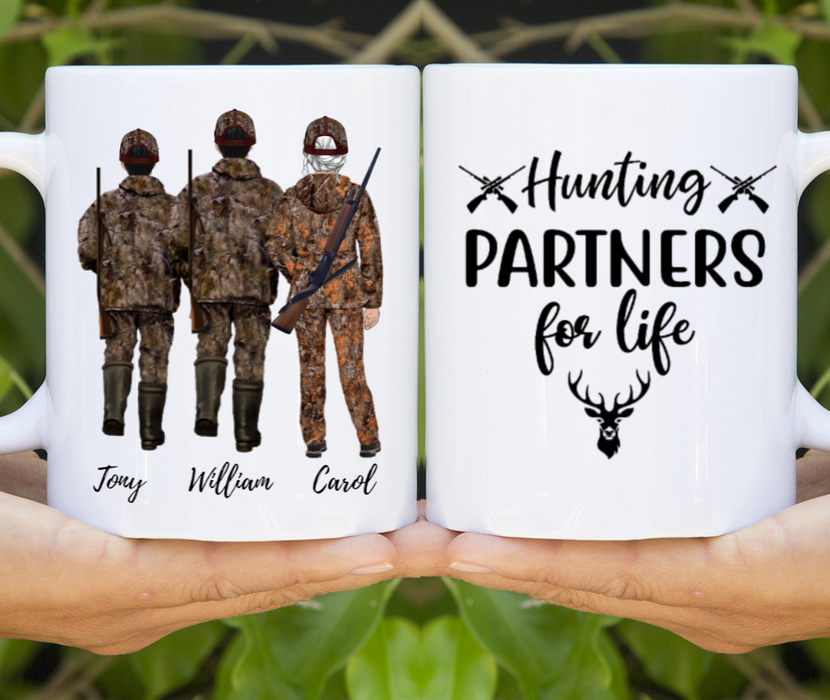 Personalized Mug, Hunting Father, Daughter and Son Gift For Hunting Lovers