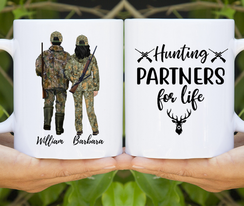 Custom Hunting Hunter Lovers Mug Deer Hunter Gift