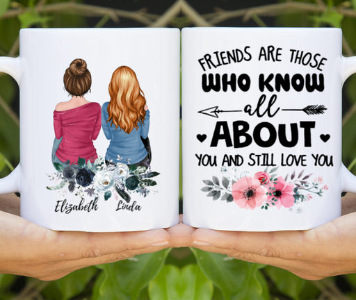 Personalized Mug, Custom Gifts for Sisters Best Friends