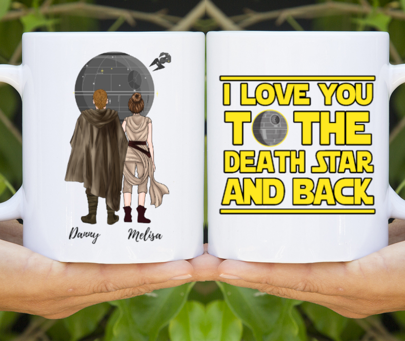 Custom Love To The Death Star and Back Personalized Mug