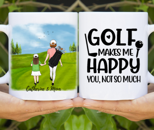 Personalized Mug, Mother And Kids Golf Partners Gifts for Golf Lovers