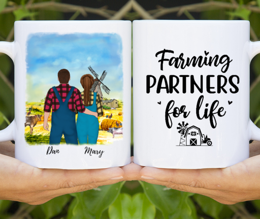 Custom Farming Partners 2 Personalized Mug Gifts For Farmers