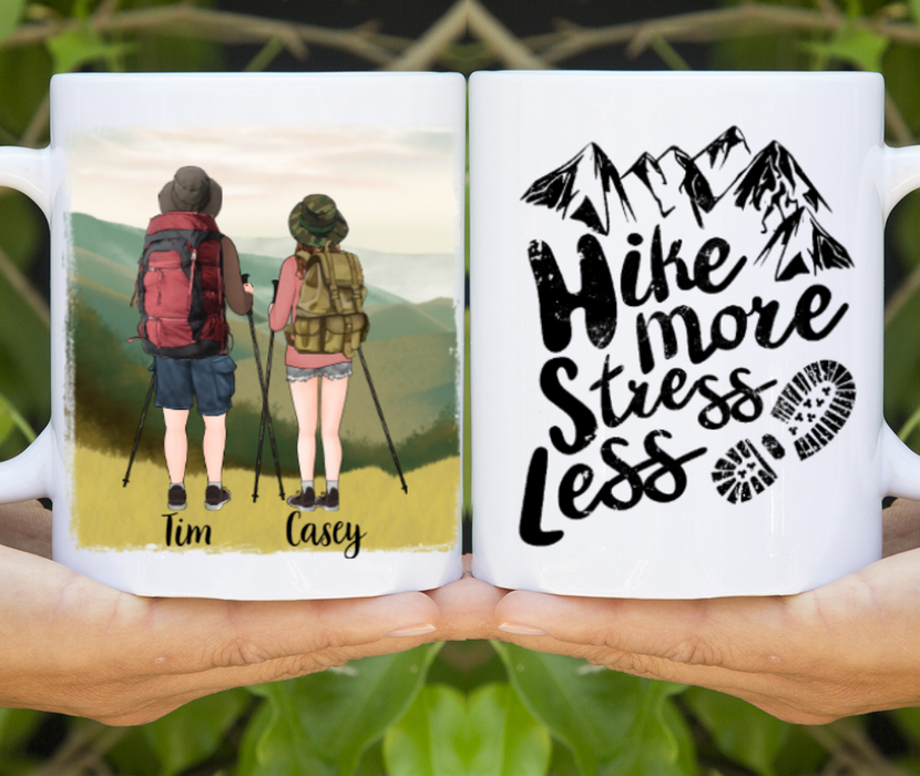 Personalized Mug, Hiking Couple Gift For Hiking Lovers
