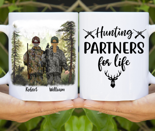 Personalized Mug, Hunting Buddies Custom Gifts for Hunting Lovers