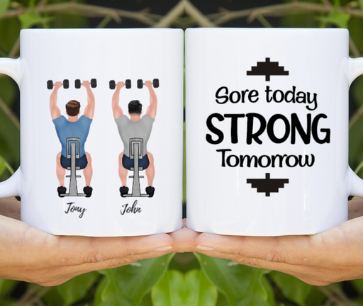 Personalized Mug, Two Gym Men Gift For Workout Lovers