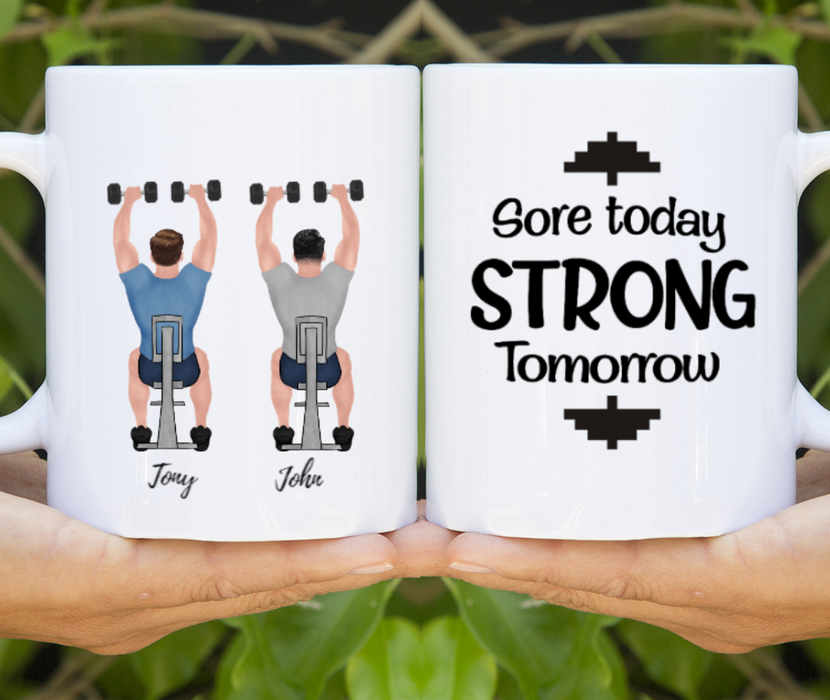 Personalized Mug - Two Gym Men Gift For Workout Lovers