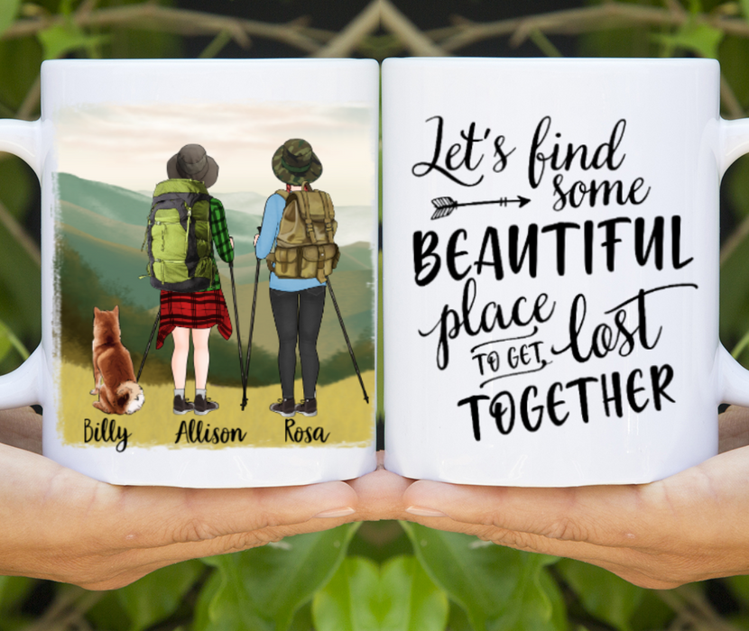Personalized Mug - Two Women And Dog Hiking Partners For Dogs Lover