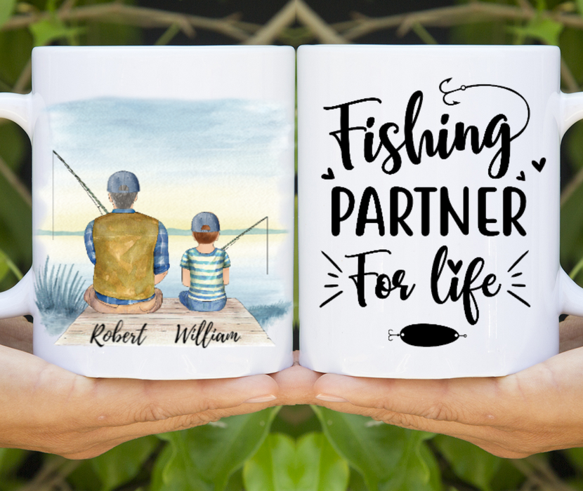 Custom Fishing Partners Personalized Gift for Fishing Lovers