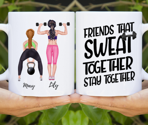 Custom Gym Friends Personalized Mug Gifts For Gym Sisters