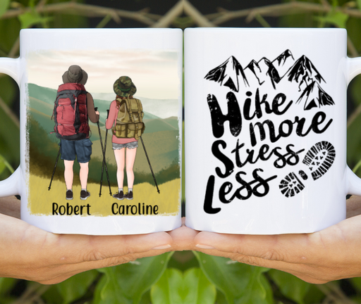 Personalized Mug, Hiking Couple And Friends Gift For Hiking Lovers