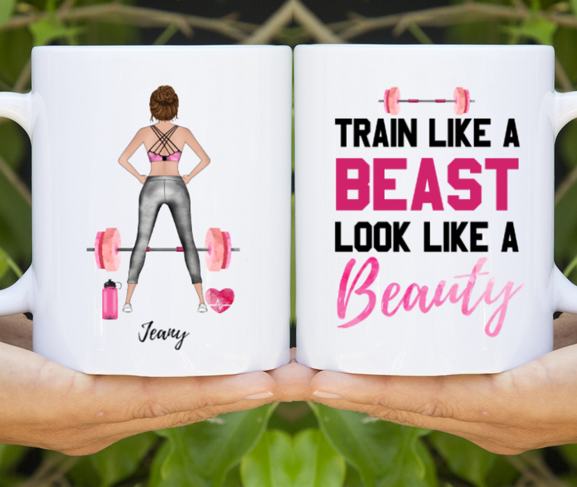 Custom Gym Girl Personalized Mug Gift For Gymer