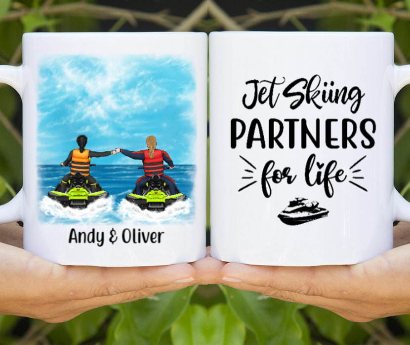 Personalized Mug, Jet Skiing Couple And Friends Custom Gifts For Jet Skiers