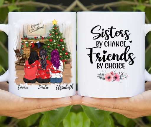 Personalized Mug, Christmas Sisters Custom Gifts for Sisters Best Friends
