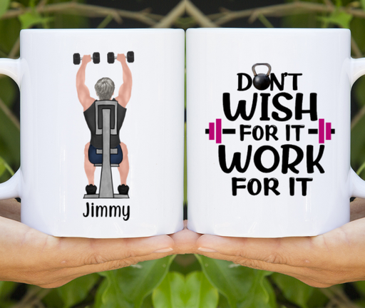 Personalized Mug, Gym Man Gift For Workout Lovers