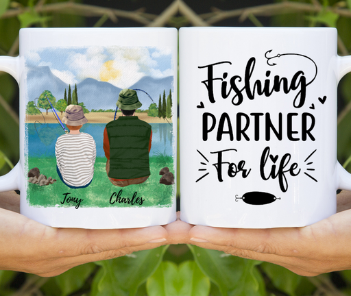 Custom Fishing Lovers Mug Personalized Fishing Partners