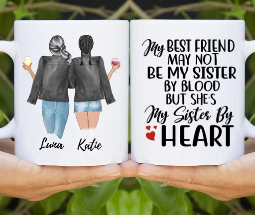 Sisters Best Friends Customize mug