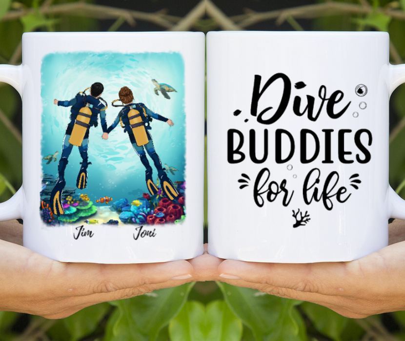 Custom Dive Buddies Personalized Mug Gift For Diving Lovers