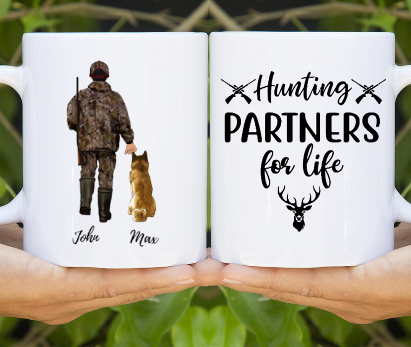 Hunting With Dogs Customize mug
