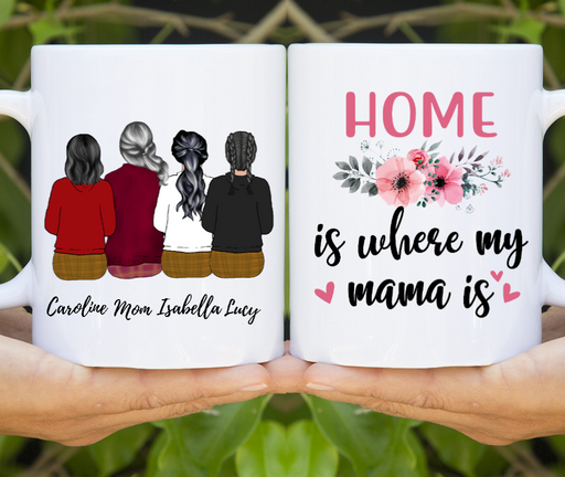 Mother And 3 Daughters Customized mug Personalized Mother's Day Gift