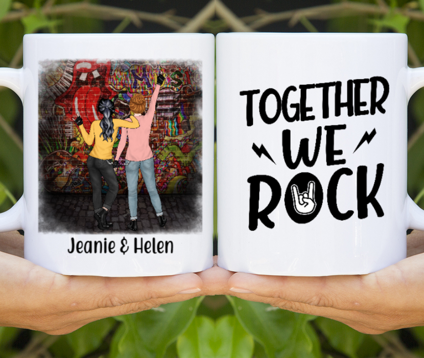 Personalized Mug, Rock And Roll Friends Custom Gift For Rock n Roll Lovers