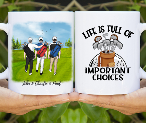 Personalized Mug, Three Men Golf Partners Gifts for Golf Lovers