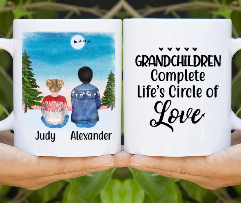 Personalized Mug, Grandchilds Sitting Christmas Gifts For Grandparents