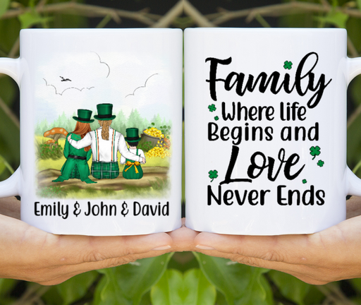 Personalized Mug - St Patrick's Day Family Custom Gifts For Parents