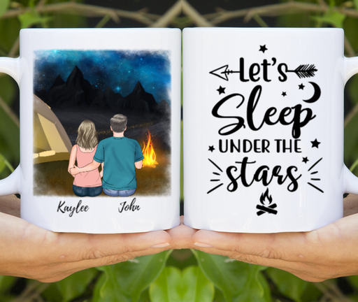 Personalized Mug, Night Camping Couple Gift For Camper Lovers