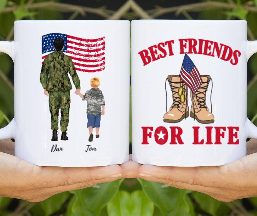 Custom Military Family Personalized Mug Gifts For Military Father
