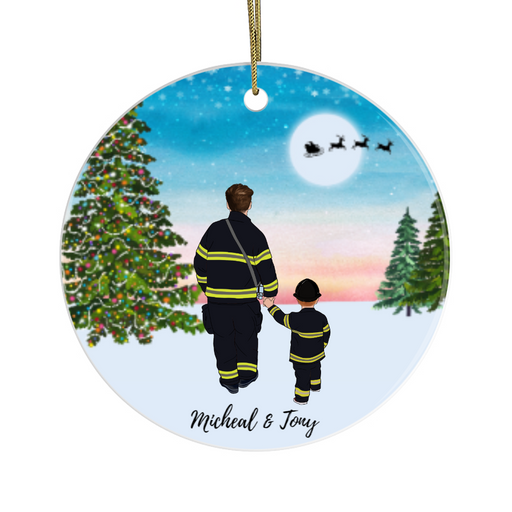 Personalized Ornament, Firefighter Best Friends Gift For Christmas