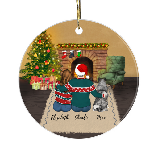 Personalized Ornament - Couple And Dogs Gift For Christmas