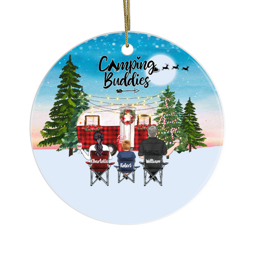 Personalized Ornament, Camping Partners Custom Gift For Christmas