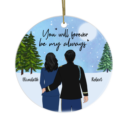 Personalized Ornament - Military Couple Custom Gift For Christmas