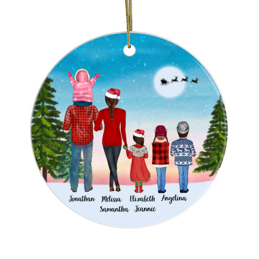 Personalized Ornament - Family Dad Mom & Kids Christmas Custom Gift For Noel Family
