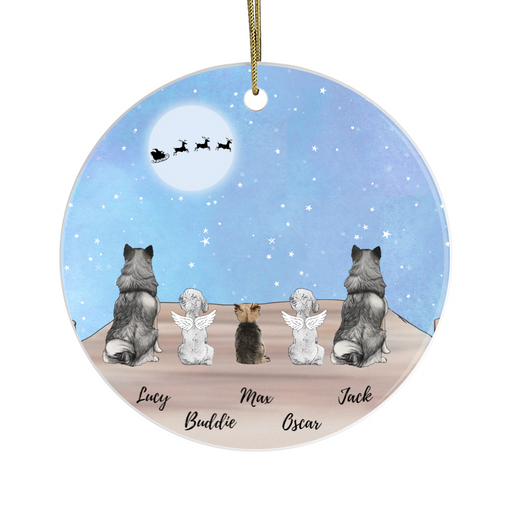 Personalized Ornament - Up To Five Dogs Custom Gift For Christmas